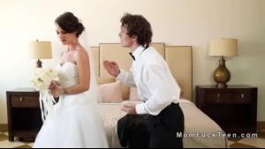 Newlyweds sharing guy