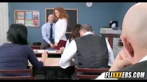 Alluring real Asian students fucks own teacher