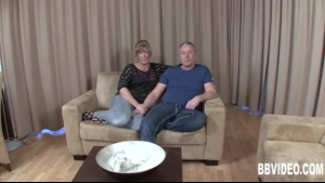 Sensual sexy MILF fucked on her knees and take hard cock