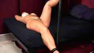 Bela is a raven haired cock worshiper, who does not mind using a lucky man's dildo
