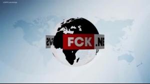 Kittina Luxon news anchor fucks the cameraman before POV blowjob
