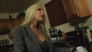 Blonde wife fucking her ex