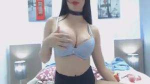 Hot slim girl masturbating on webcam